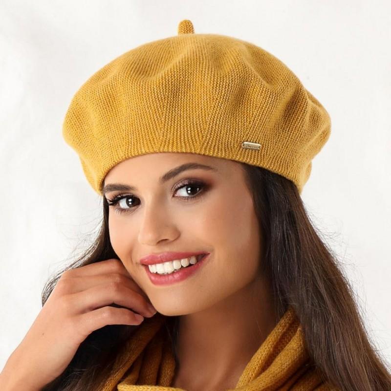 Beret damski Michele Żółty